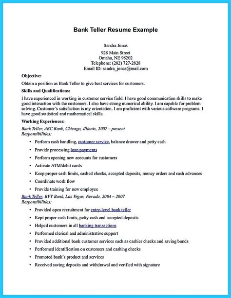 Bank Teller Resume by One Of Recommended Banking Resume Exles To Learn