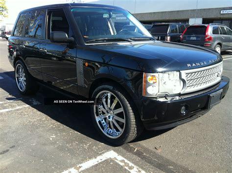 luxury black range rover 2004 range rover full size hse luxury black on grey 132000mi