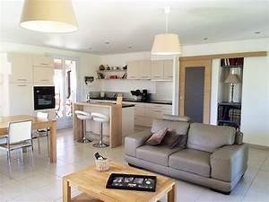 amenagement de cuisines lb home style lucille beaudet With salon salle a manger cuisine 45m2