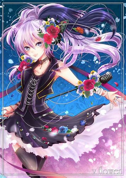 Flower Vocaloid Fanart Anime Mobile Rose Nico