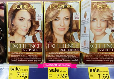 .99 (reg .49) L'oreal Excellence Creme Hair Color At