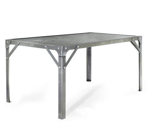 Table u00e0 manger Atelier en acier de 6 personnes L1510 x l910 x H760 - Tables - Tables de salle u00e0 ...