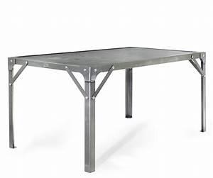 Table à Manger Industrielle Acier Et Bois : table manger atelier en acier de 6 personnes l1510 x l910 x h760 tables tables de salle ~ Teatrodelosmanantiales.com Idées de Décoration