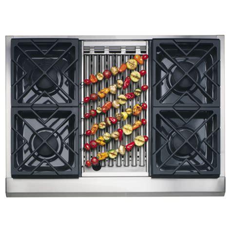 zgunrhss ge monogram  professional gas cooktop   burners  grill natural gas