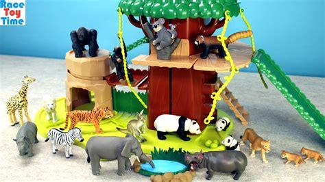safari treehouse adventure playset ania animals toys