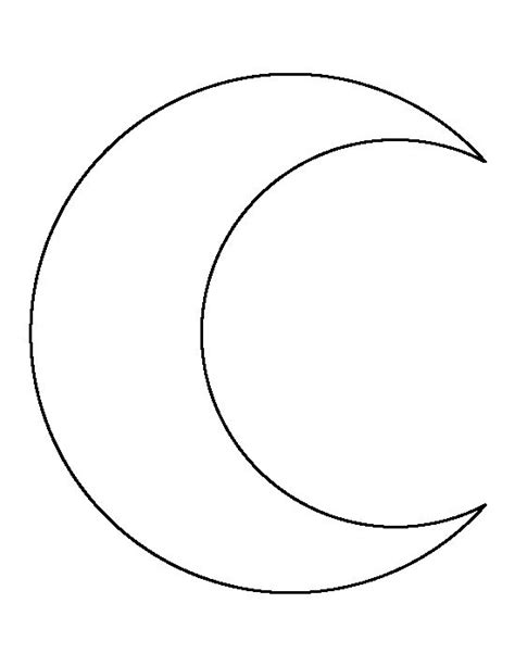 moon template crescent moon pattern use the printable outline for crafts creating stencils scrapbooking