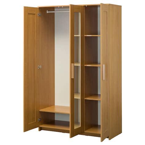 3 Door Wardrobe Shopping by Brimnes Wardrobe With 3 Doors Oak Effect Ikea