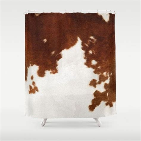 Cowhide Valance - cowhide shower curtain cow print shower curtain country