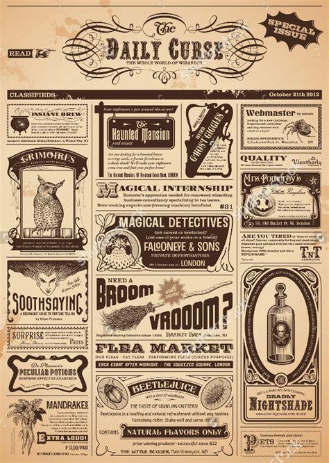 12+ Vintage Newspaper Templates  Free Sample, Example