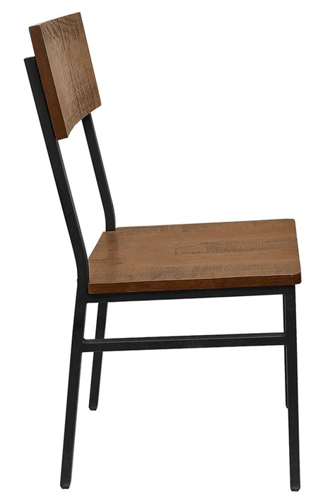 the henry steel chair with distressed wood bar