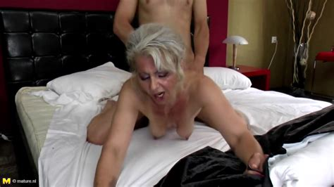 Sexy Granny Takes Young Cock In Hairy Vagina Free Porn
