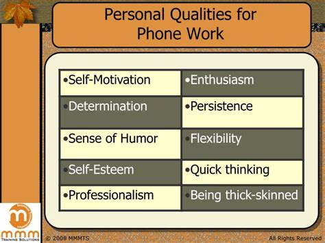 Personal Qualities For by Ppt Telephone Etiquette Powerpoint Presentation Id 6757542