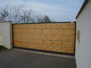 Portail En Fer Lapeyre : portail coulissant bois exotique galerie avec ~ Premium-room.com Idées de Décoration