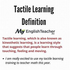 Tactile Learning Definition
