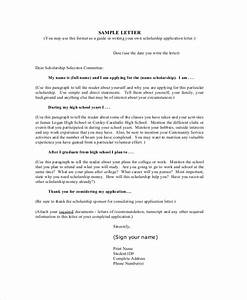 Free 10  Sample Scholarship Application Letter Templates