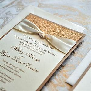 mishay champagne ivory and rose gold glitter wedding With rose gold and champagne wedding invitations