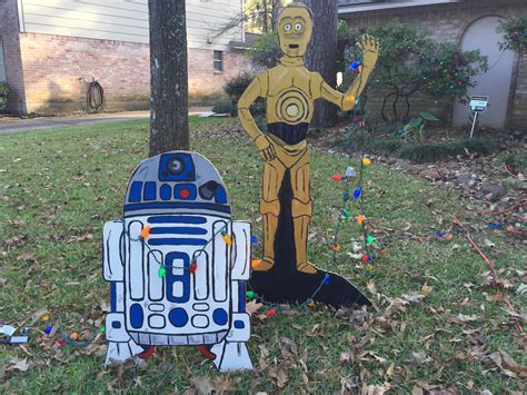 star wars christmas yard decorations clumsy crafter