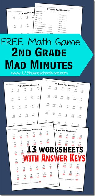 math games  grade mad minutes  homeschool