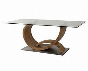 Table Basse Verre Bois : pieds de table design art irene ~ Teatrodelosmanantiales.com Idées de Décoration
