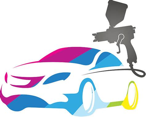 Royalty Free Car Painting Clip Art, Vector Images