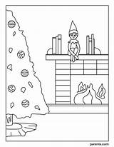 Coloring Elf Shelf Eve Excited Inspired Cozy Season sketch template