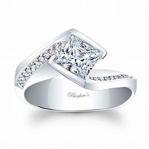 Barkev's Princess Cut Engagement Ring 8032L