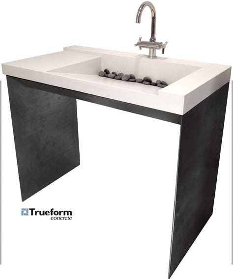 ada compliant vanity height ada compliant sink concrete on a steel base could be for