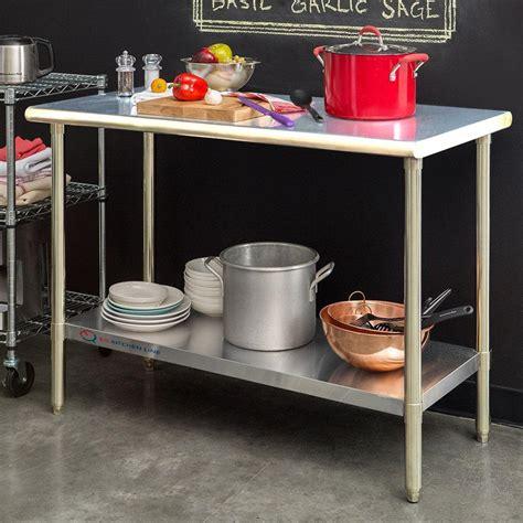kitchen utility table eq kitchen line stainless steel silver kitchen utility