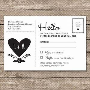 Wedding rsvp postcard printable pdf garden whimsy for Funny wedding invitations email