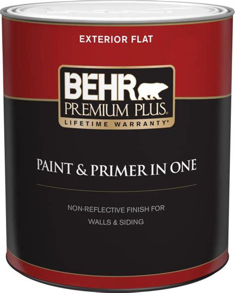 Behr Premium Plus Exterior Paint & Primer In One, Flat