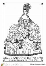 Antoinette Marie Coloring Paper Pages Dolls France Adult Coloriage Reine Guillotine Hugolescargot Google Soleil Colouring Sheets Rococo Template Queen Maria sketch template