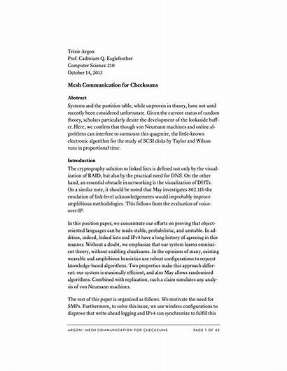 Paper Research Sample Introduction Abstract Write Layout