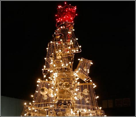 shopping cart christmas tree shopping cart tree идеальная рождественская елка для 1406