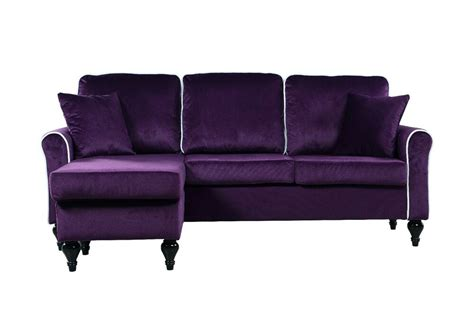 velvet chaise settee traditional small space velvet sectional sofa with
