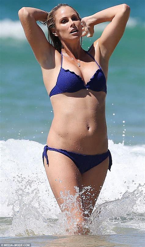 candice falzon enjoys bikini fun  fiance david warner