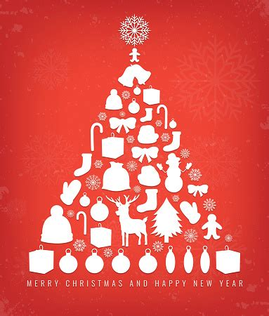 Christmas Greeting Card With Merry Christmas And Happy New