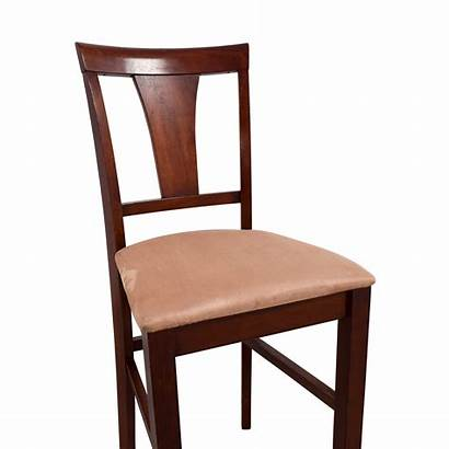Counter Height Chair Wood Cherry Seat Padded