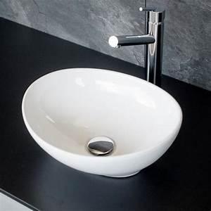 Waschbecken Oval Aufsatz : aufsatz waschbecken keramik oval 33x40 5cm ~ Orissabook.com Haus und Dekorationen
