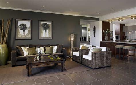 dark brown tiles dark feature wall living area lounge room