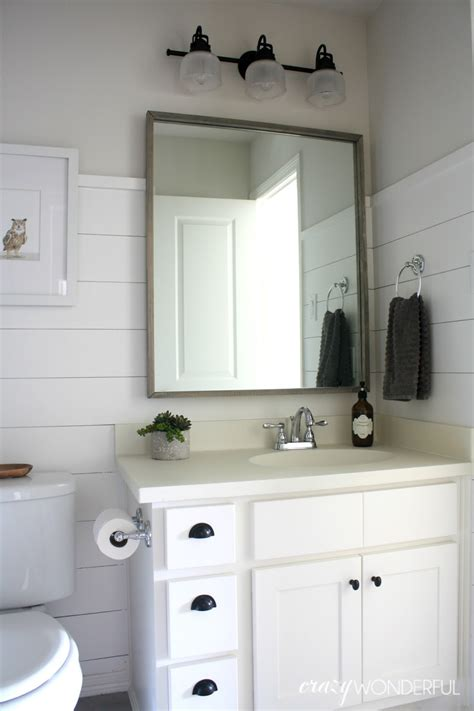 Grey And White Chevron Curtain Panels by Shiplap Boy S Bathroom Reveal Crazy Wonderful