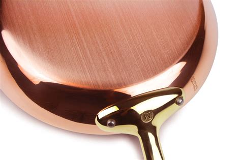 mauviel copper fry pan mm skillet mheritage mb bronze handle cutlery