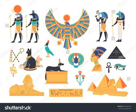 Ancient Egypt Collection Gods Deities Mythological Stock