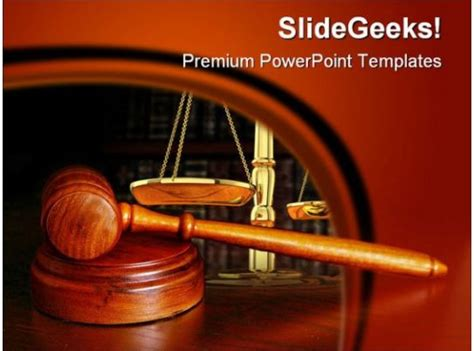 gavel law powerpoint background  template