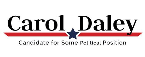 political logo template red angled stripe  blue star