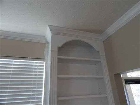 oak cabinet crown molding beechridgecs com custom built in w crown molding arches fluted 39 column