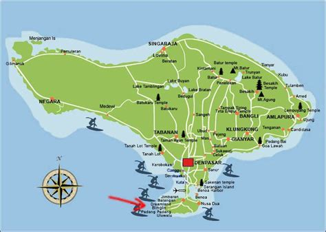 map  bali  bingin beach   south