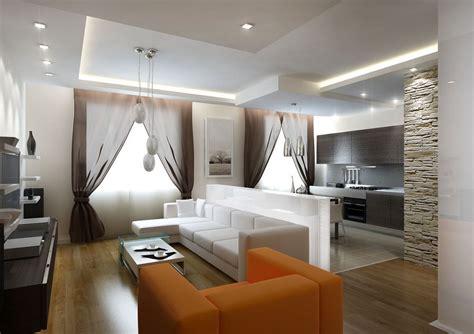 Дизайн интерьера гостиной кухни в современном и