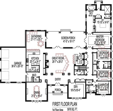 home design evansville 5 bedroom house plans open floor plan designs 6000 sq ft