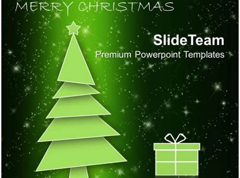 holidays winter christmas tree  gift box powerpoint