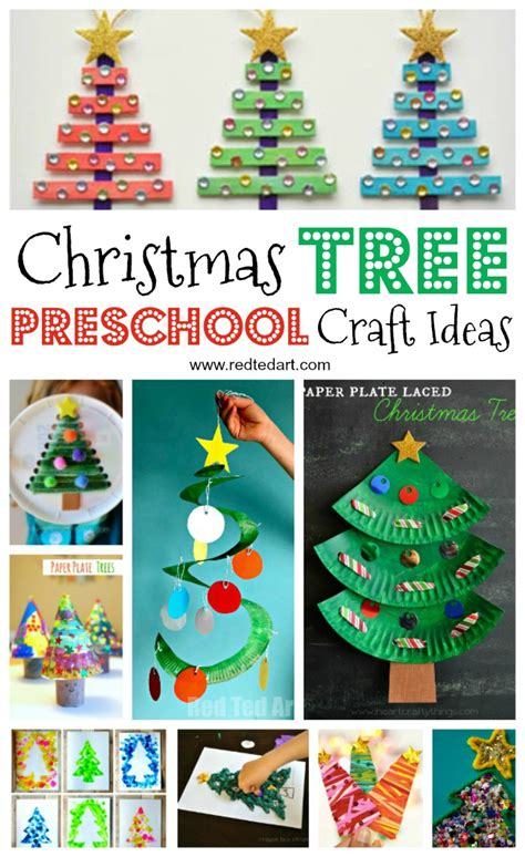 easy tree crafts for ted s 596 | Christmas trees PRESCHOOLERS